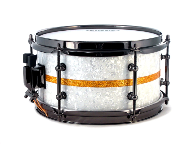 10x5 5 stave snare mit white pearl gold glitter firmen news. Black Bedroom Furniture Sets. Home Design Ideas
